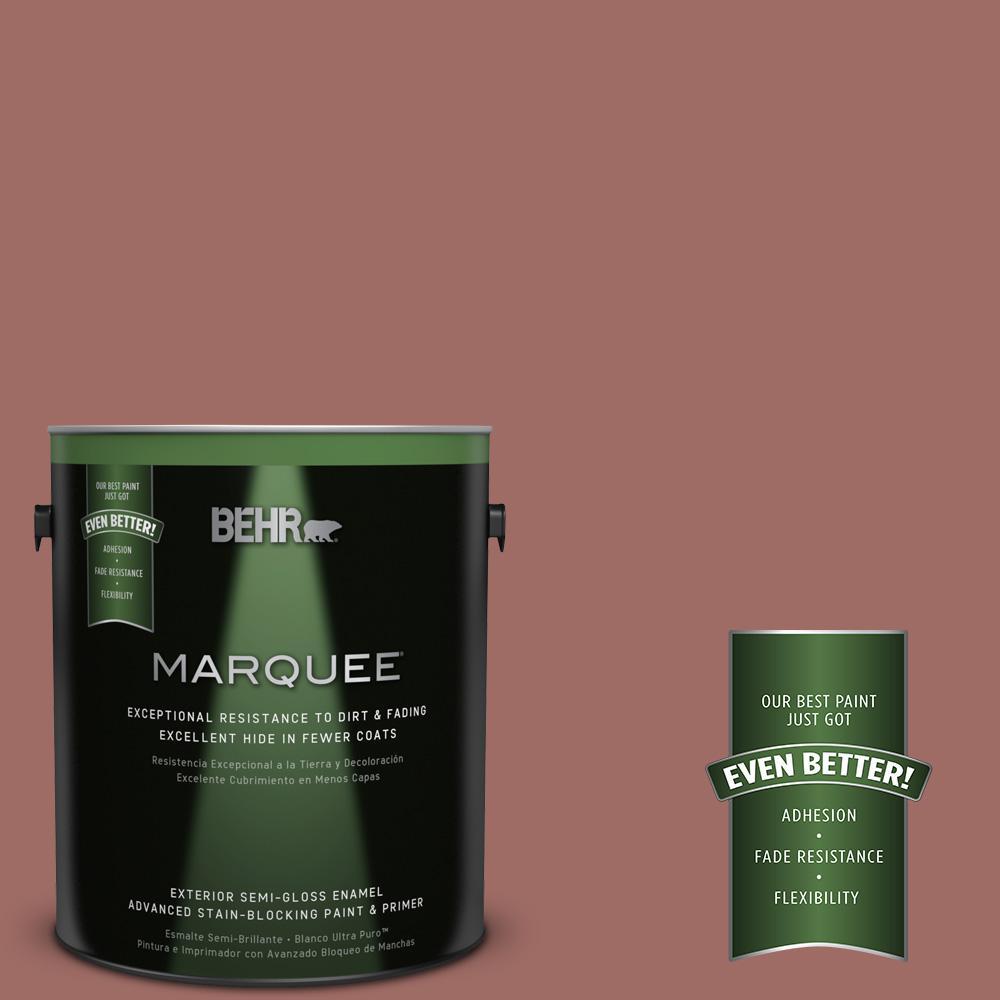 BEHR MARQUEE 1-gal. #190F-5 Brandy Semi-Gloss Enamel Exterior Paint