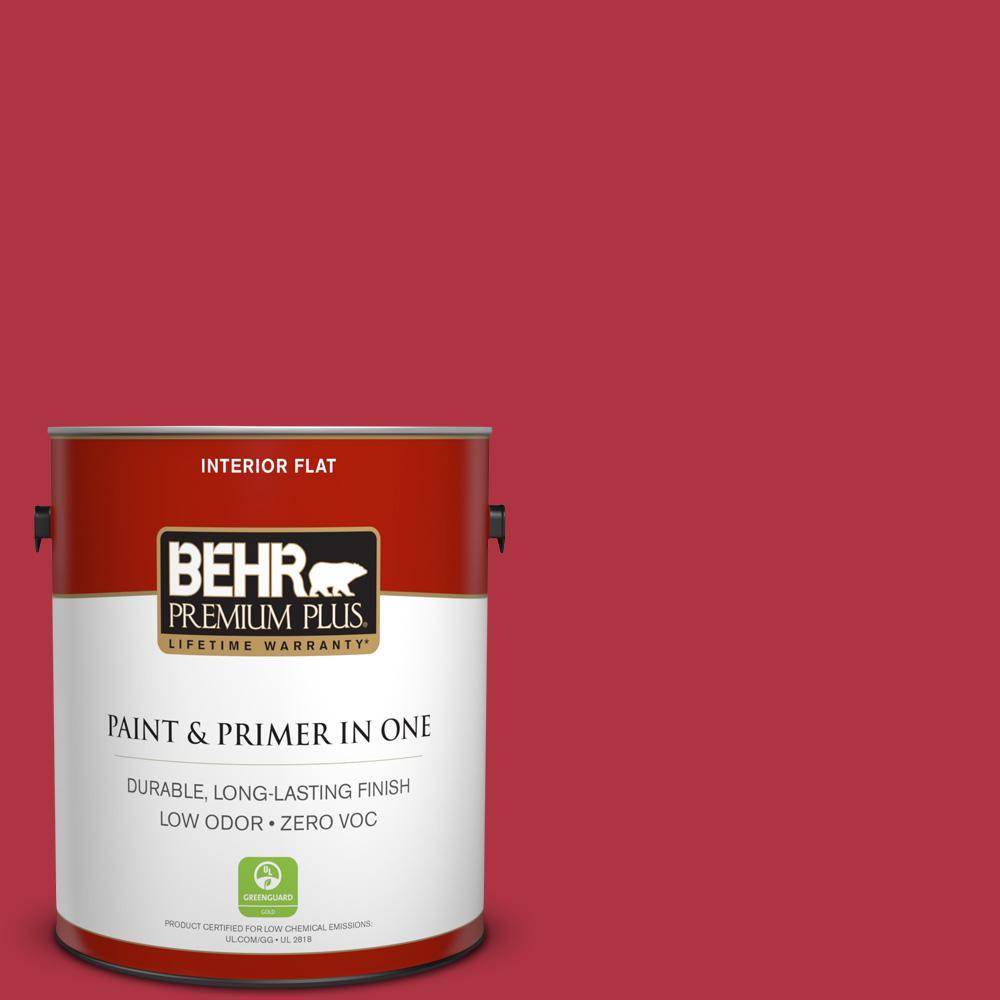 BEHR Premium Plus 1-gal. #140B-7 Frosted Pomegranate Zero VOC Flat Interior Paint