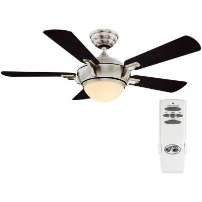 Midili 44 in. LED Indoor Brushed Nickel  Ceiling Fan with Light Kit and Remote Control