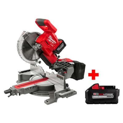 M18 FUEL 18-Volt Li-Ion Brushless Cordless 10 in. Dual Bevel Sliding Compound Miter Saw Kit with Free 8.0 Ah Battery