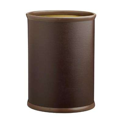 Contempo 13 Qt. Brown Oval Waste Basket