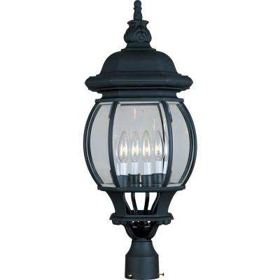 Crown Hill 4-Light Black Outdoor Pole/Post Mount