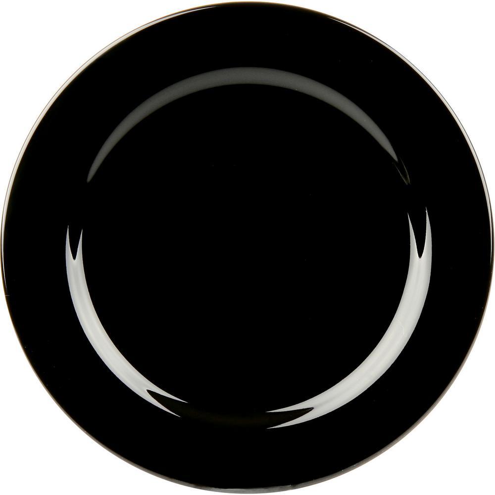 10.5 in. Dinner Plate in Black (Set of 4)