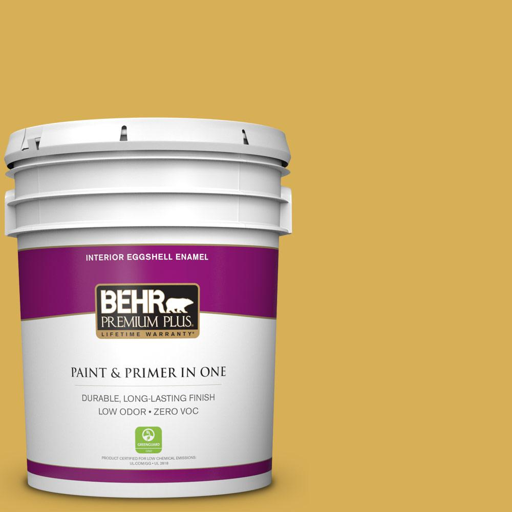 5 gal. #370D-6 Golden Cricket Zero VOC Eggshell Enamel Interior Paint