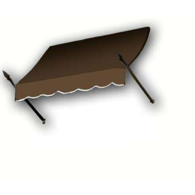 10 ft. New Orleans Awning (44 in. H x 24 in. D) in Brown