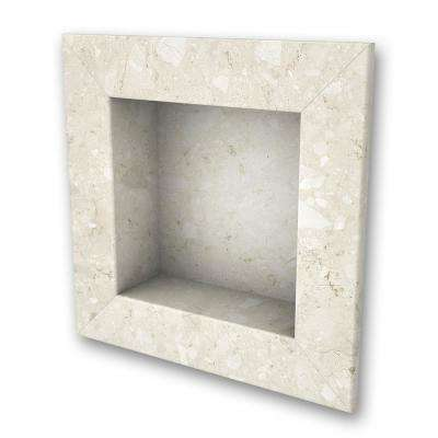 11 in. x 11 in. Square Recessed Shampoo Caddy in Calabria