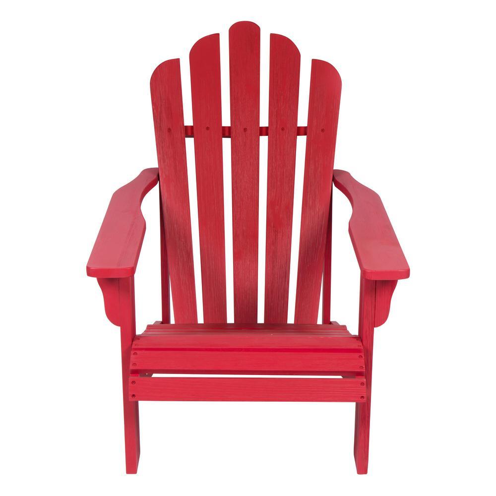 Westport II 36 in. Tall Chili Red Cedar Wood HYDRO-TEX Finish Adirondack Chair
