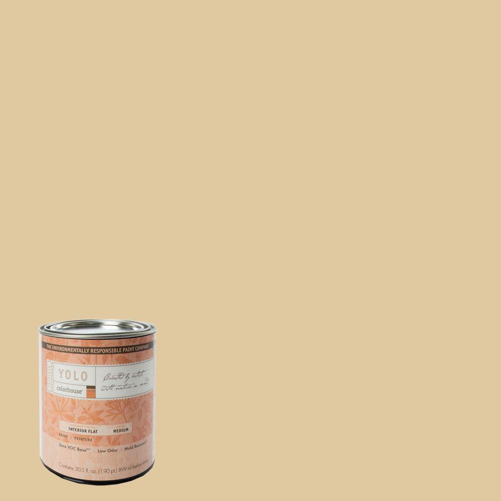 YOLO Colorhouse 1-Qt. Grain .04 Flat Interior Paint-DISCONTINUED