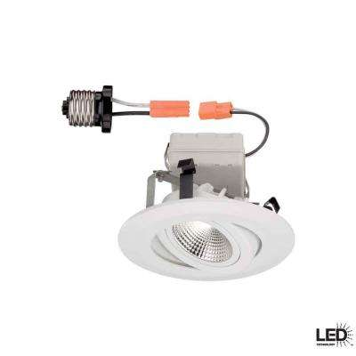 4 in. White LED Recessed Gimbal Trim
