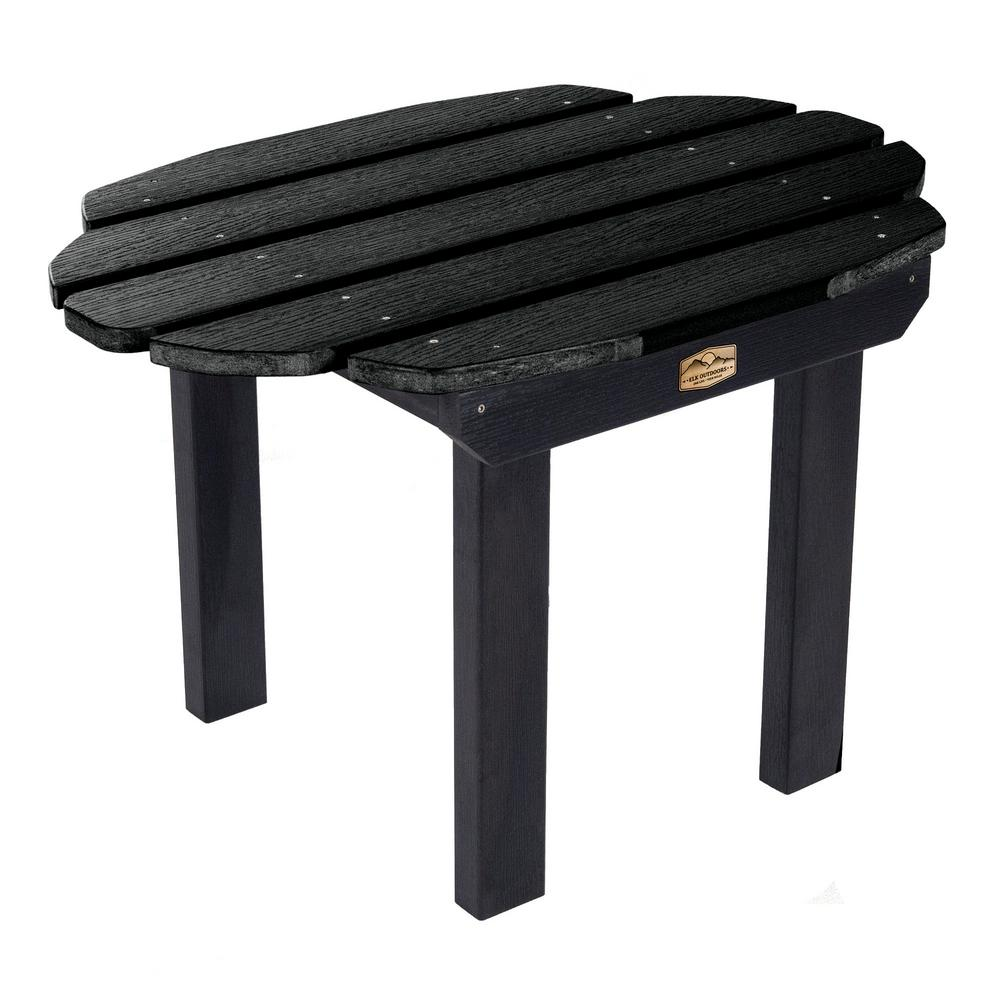 ELK OUTDOORS Essential Abyss Rectangular Recycled Plastic Outdoor Side Table