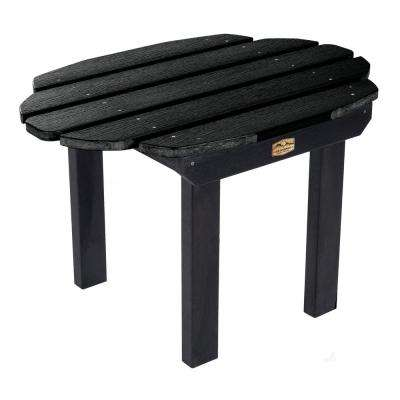 Essential Abyss Rectangular Recycled Plastic Outdoor Side Table