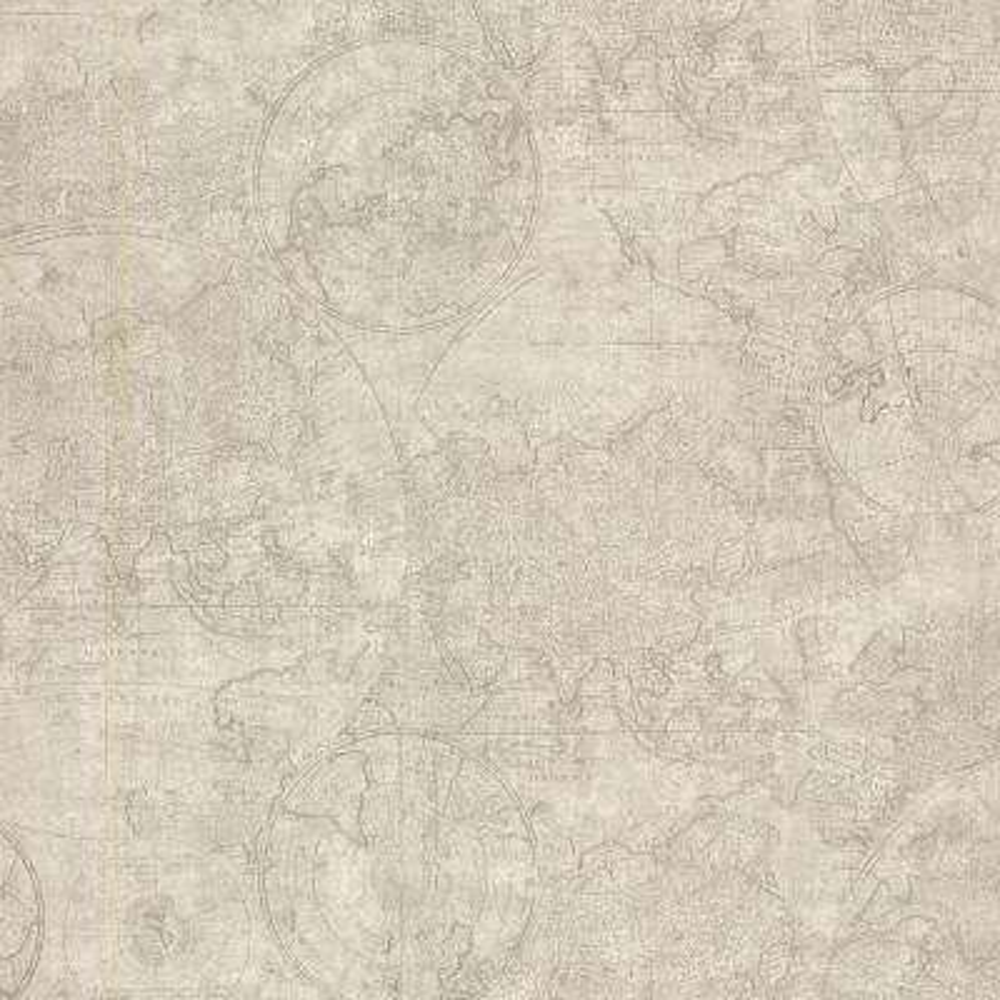 56.4 sq. ft. Cartography Fog Vintage World Map Wallpaper