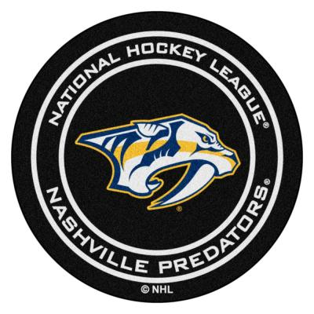 Nashville Predators Black 27 in. Round Hockey Puck Mat