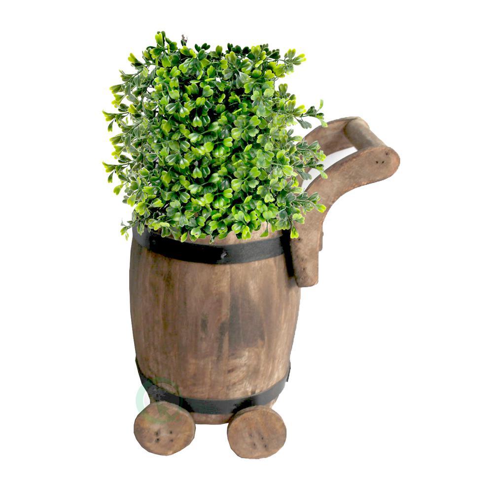 Gardenised 7 5 In W X 7 8 In D X 10 In H Wood Small Barrel