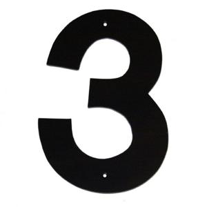 Montague Metal Products 10 inch Helvetica House Number 3 by
