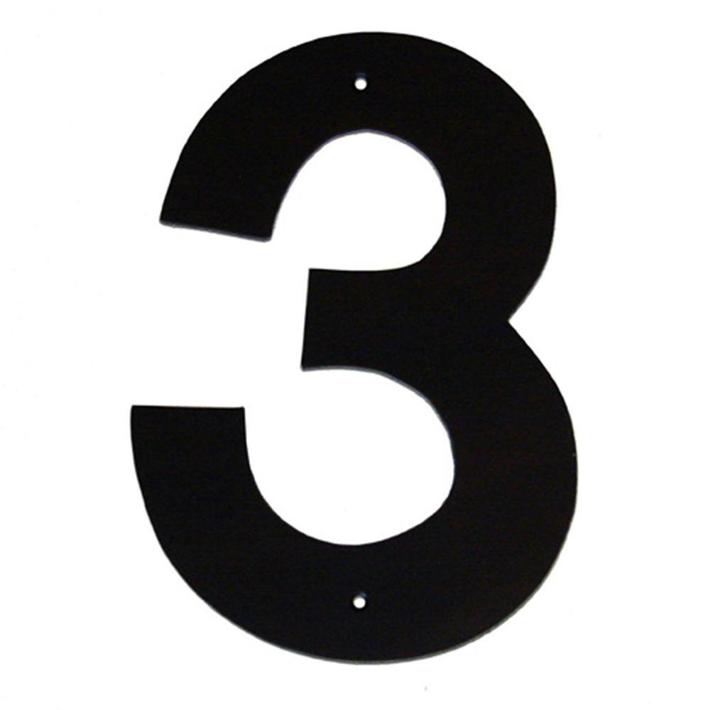 6 in. Helvetica House Number 3