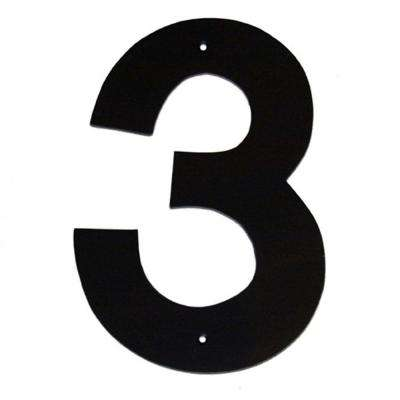 8 in. Helvetica House Number 3