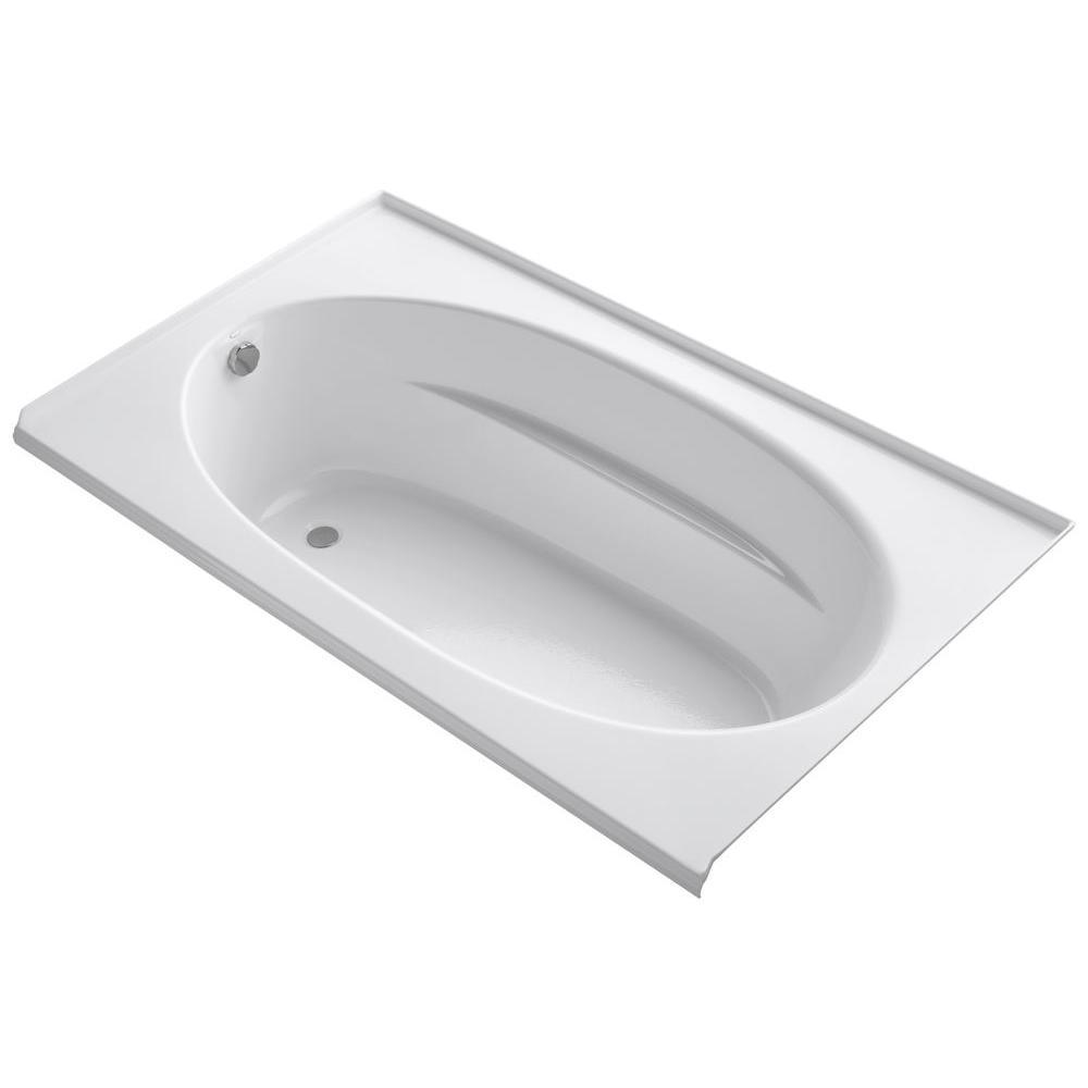 Windward 6 ft. Left-Hand Drain with Tile Flange Bathtub in White