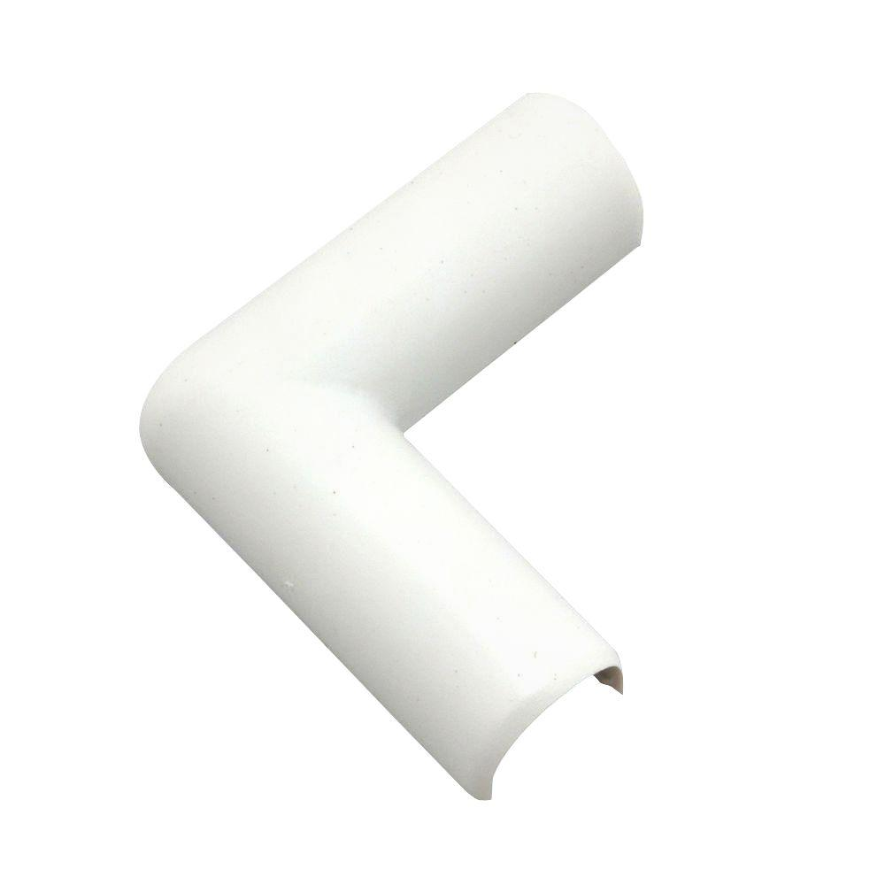 CordMate Flat Elbow, White