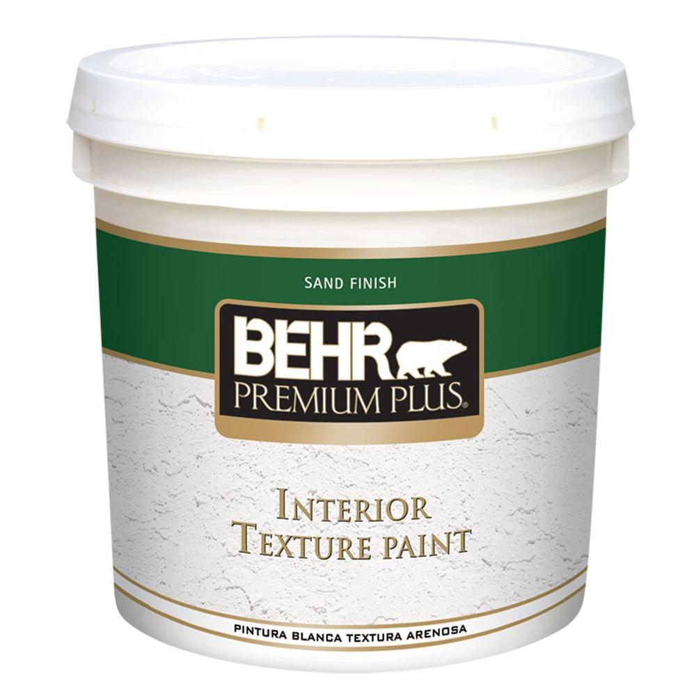 BEHR Premium Plus 2 gal. Sand Finish Flat Interior Texture Paint ...