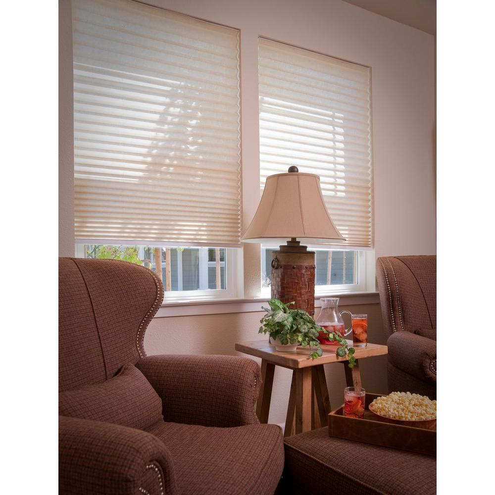 Redi Shade Easy Lift Natural Cordless Light Filtering Pleated Shade - 48 in. W x 64 in. L