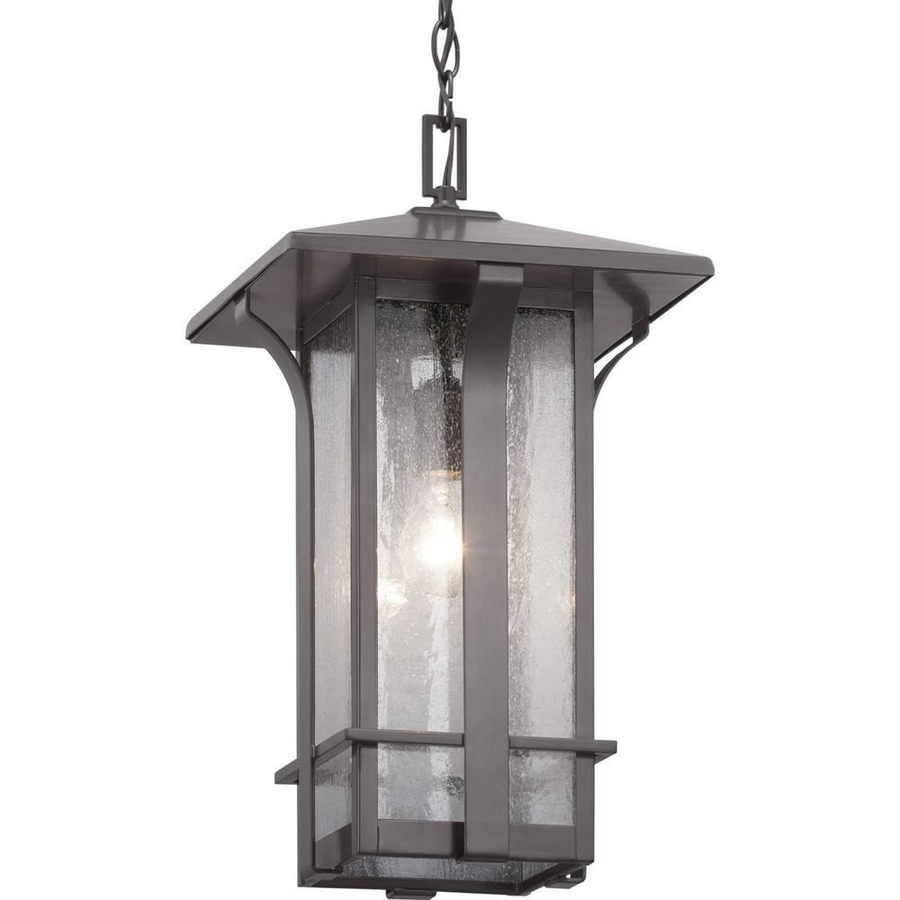 Cullman Collection 1-Light Antique Bronze Hanging Lantern