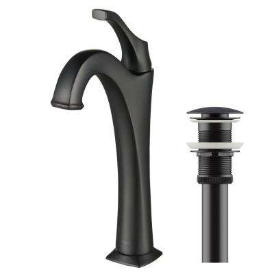 Arlo Single Hole Single Handle Vessel Bathroom Faucet in Matte Black