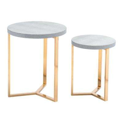 Gela Gray Round Tables Gray