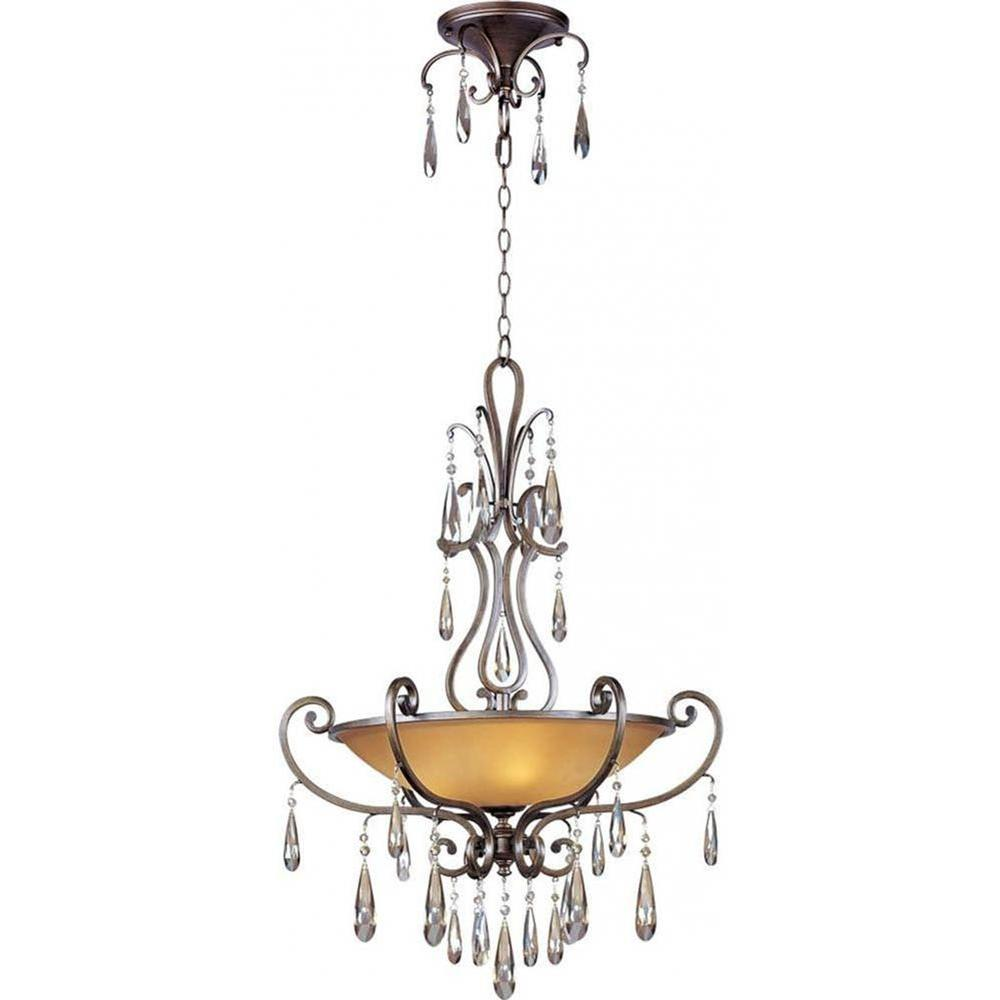 Maxim Lighting Chic 4 Light Heritage Bronze Pendant