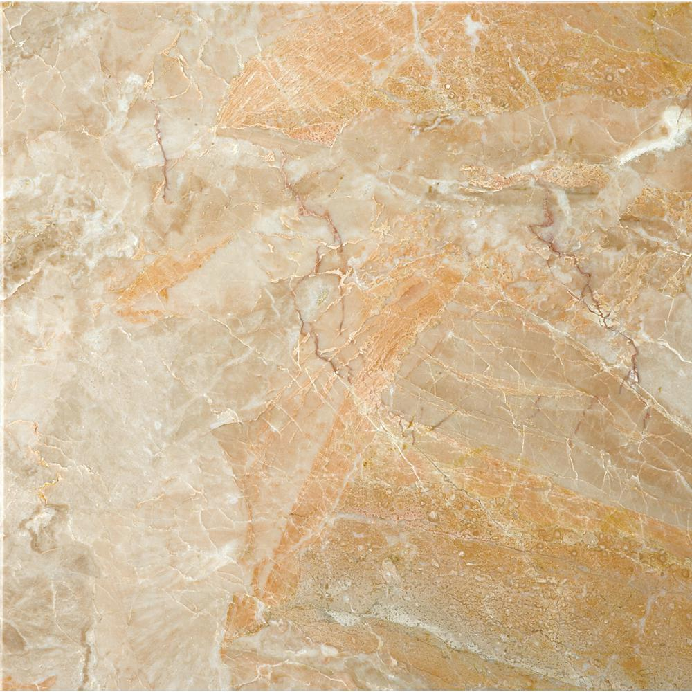 Emser Marble Breccia Oniciata Polished 12.01 in. x 12.01 in. Marble Floor and Wall Tile (1 sq. ft.)