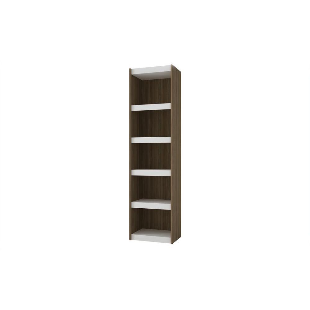 Manhattan Comfort Parana 2.0 White & Oak Open Bookcase