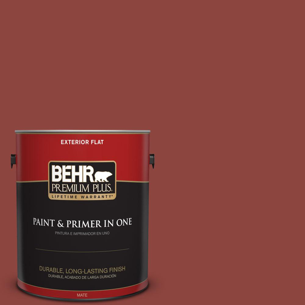 BEHR Premium Plus 1-gal. #180D-7 Roasted Pepper Flat Exterior Paint