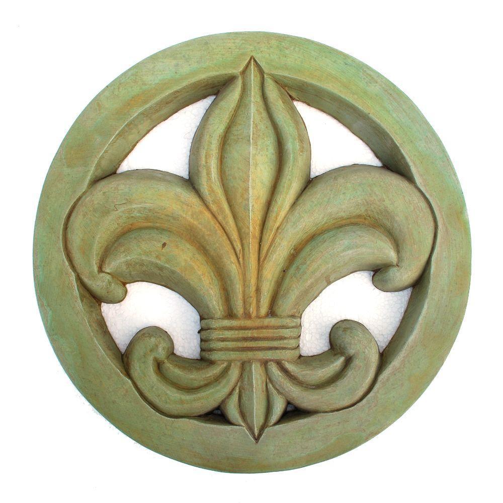 Cast Stone Fleur-De-Lis Stepstone Weathered Bronze