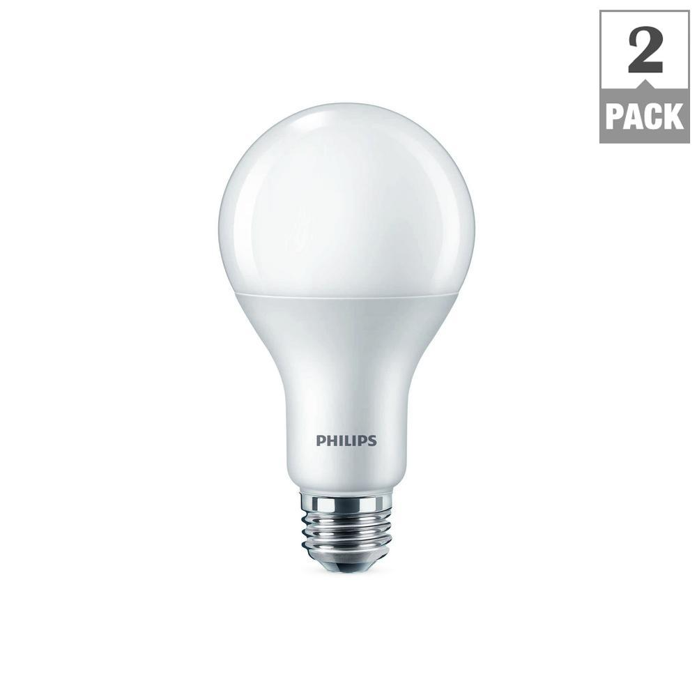philips 75 watt equivalent a21 led warm glow soft white 2 pack 479519 the home depot. Black Bedroom Furniture Sets. Home Design Ideas