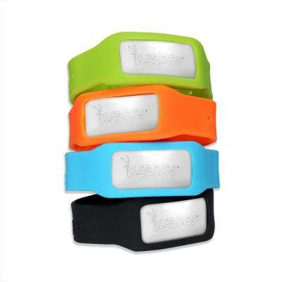 Bugables Mosquito Repellent Band with three 72-hours Cartridges per Band Case (Total: 12 Assorted Colored Bands)