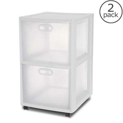 16 in. 2-Drawer Ultra Cart (2-Pack)