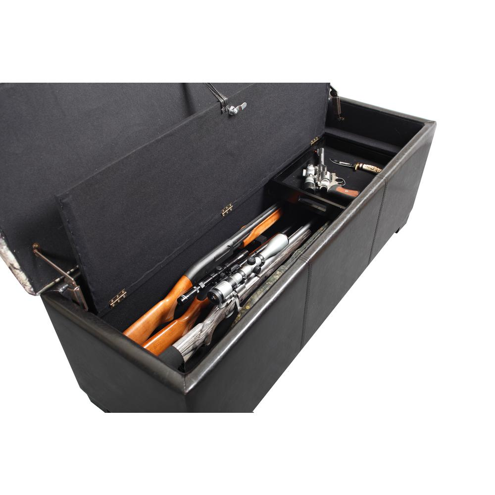 Camo Gun Long Rifle Safe Storage Bench Seat Pistol Lock ...