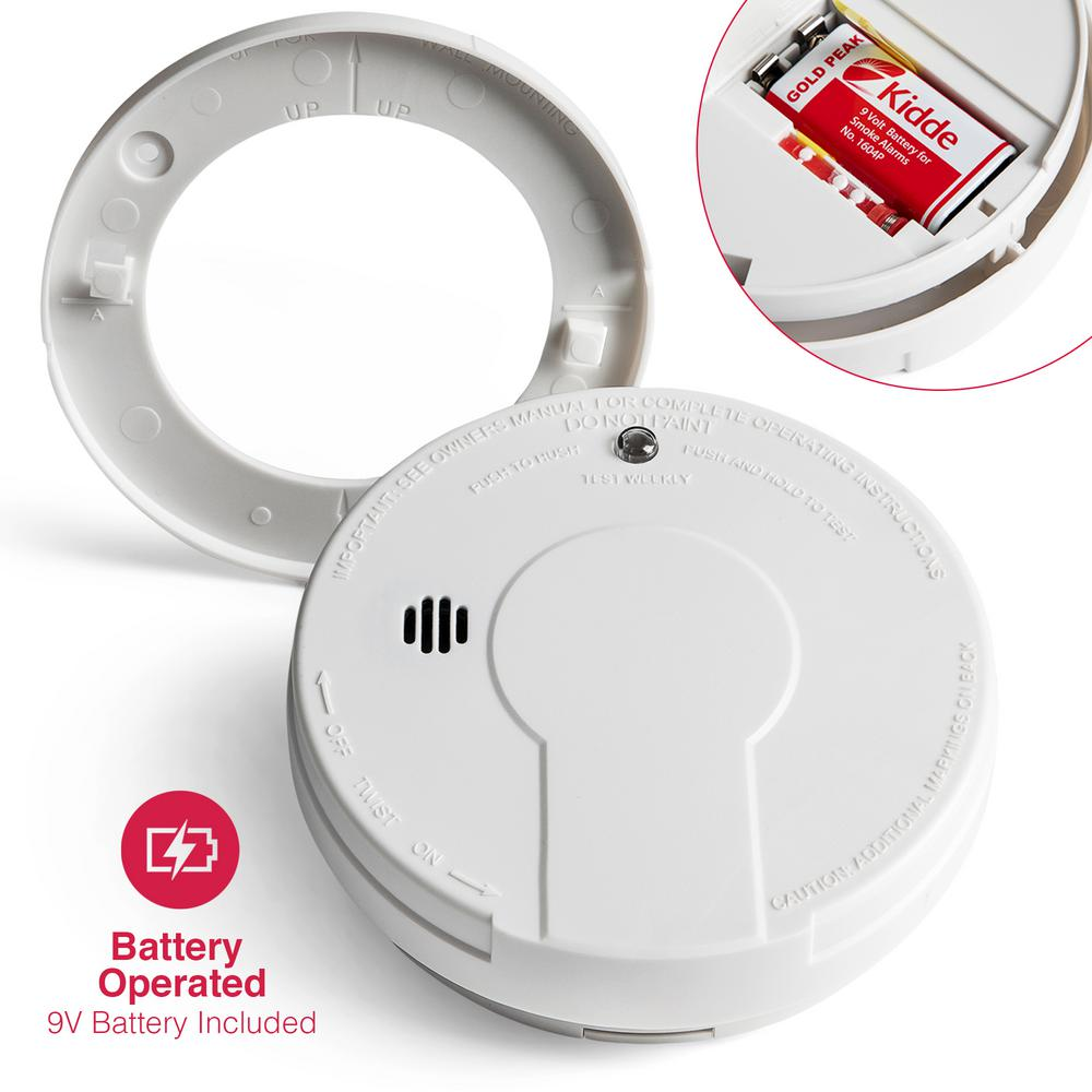 Kidde Battery Operated Smoke Detector With Led Power Indicator And