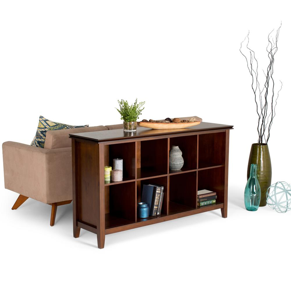 Simply Home Artisan Medium Auburn Brown Storage Console T...