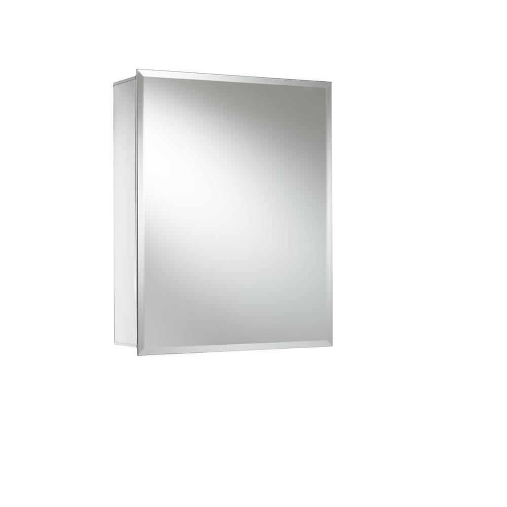 JACUZZI 16 in. x 20 in. Recessed or Surface Mount Single Door Medicine Cabinet