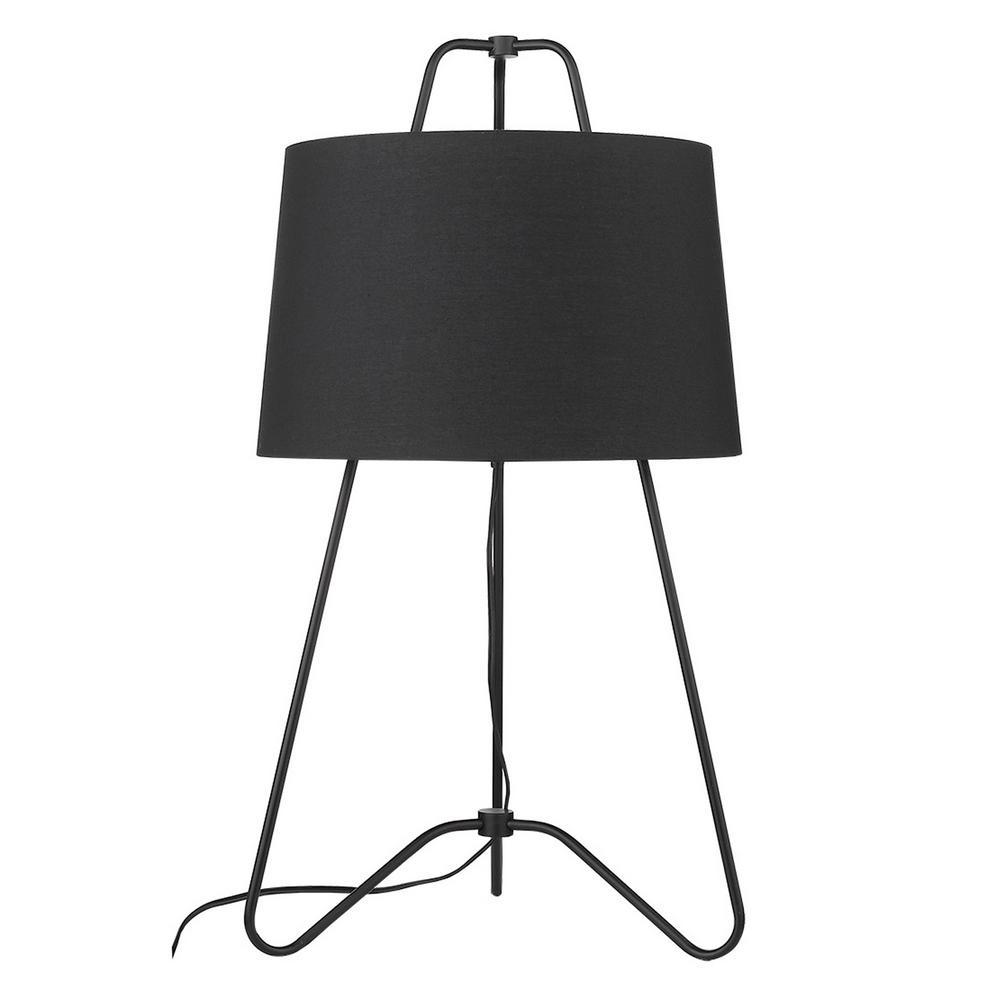 Light Matte Black Table Lamp
