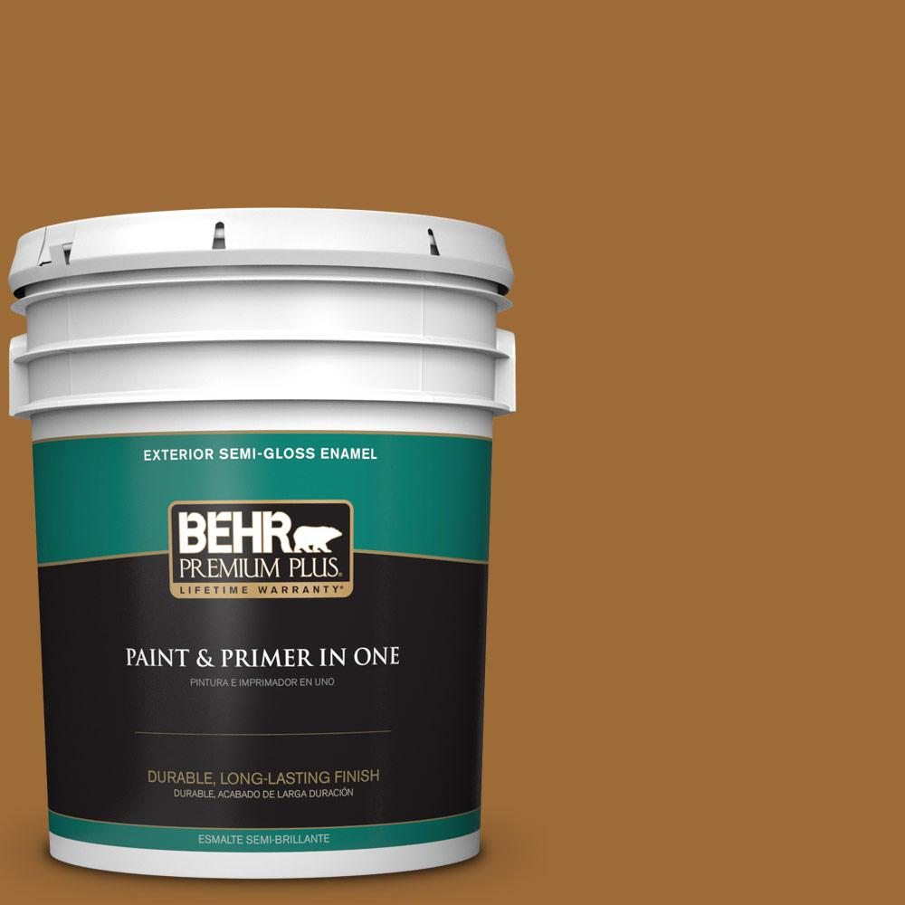 5 gal. #PPU6-01 Curry Powder Semi-Gloss Enamel Exterior Paint