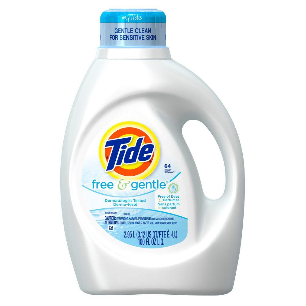 100 oz. Free and Gentle Liquid Laundry Detergent (64 Load)