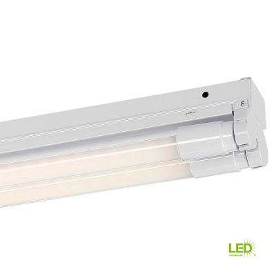 4 ft. 2-Light White LED MV Surface Mount Strip Light with T8 LED 4000K Tubes
