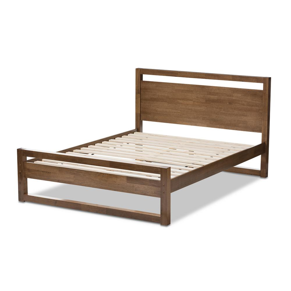 Baxton Studio Torino Medium Brown Wood Full Platform Bed-28862-7619 ...