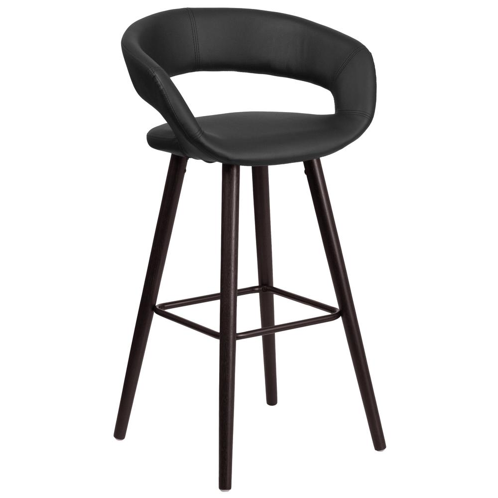 Home Decorators Collection James 29 5 In Chrome Bar Stool With Back 0277200250 The Home Depot