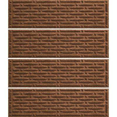 Dark Brown 8.5in. x 30 in. Mesh Stair Tread Cover (Set of 4)
