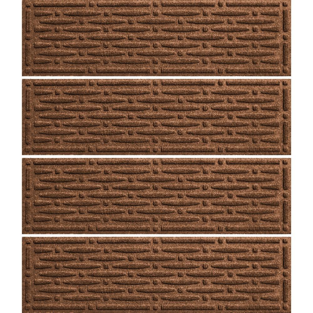Dark Brown 8.5in. x 30 in. Mesh Stair Tread Cover (Set of 4)