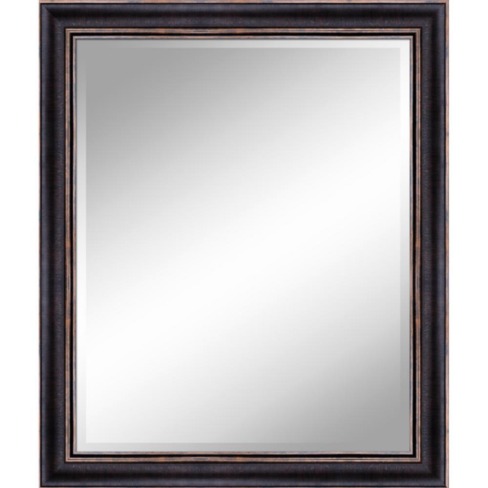 Unbranded 31 In X 37 In Bronze Gold Mirror In 1 In Bevel With 3 5 In Frame Zm3137bg The Home Depot