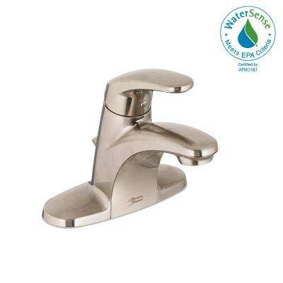 Colony Pro 4 in. Centerset Single-Handle Low-Arc Bathroom Faucet with Less Pop-Up Hole and Rod in Brushed Nickel